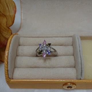 綺麗なマルチカラーの可愛い指輪です。サイズ15号(リング(指輪))