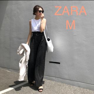ZARA - ZARA ザラ ベルト付き リネンパンツ 金子まき M