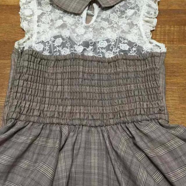 LIZ LISA(リズリサ)の*LIZ LISA タータンチェックノースリーブワンピース* レディースのワンピース(ミニワンピース)の商品写真