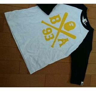 アベイシングエイプ(A BATHING APE)のBapekidsラグランTシャツ(Tシャツ/カットソー)