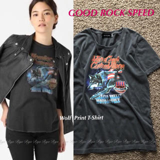 DEUXIEME CLASSE - 新品同様⭐️GOOD ROCK SPEED/ウルフ プリント半袖Tシャツ