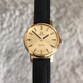 オメガ(OMEGA)のオメガ OMEGA 金無垢 18k レディース手巻き時計 美品 (腕時計)
