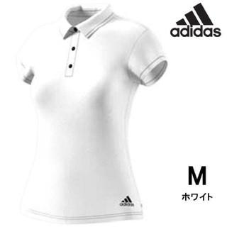 アディダス(adidas)のアディダス M ポロシャツ レディース 白 climachill トップス(ウォーキング)