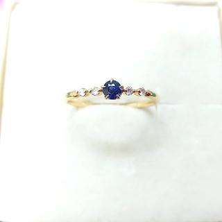 スタージュエリー(STAR JEWELRY)のSTAR JEWELRY K18 サファイア×ダイヤモンドリング(リング(指輪))