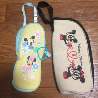 Disney - ベビー ミッキーミニー 哺乳瓶ケース 2個セット