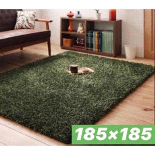IKEA - シャギー ラグ カーペット グリーン