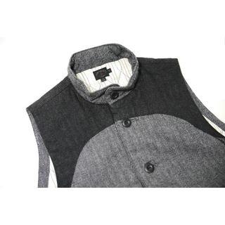 エンジニアードガーメンツ(Engineered Garments)の♂【新品】ビューティフィカル ベスト M グレー(ダウンベスト)