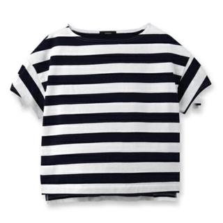 オペーク(OPAQUE)の一回着用☆OPAQUEボーダーコットンスウェットカットソー(Tシャツ(半袖/袖なし))
