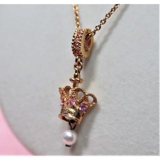 グロッセ(Grosse)のグロッセ Grosse ネックレス ゴールド ピンクストーン 可愛い(ネックレス)