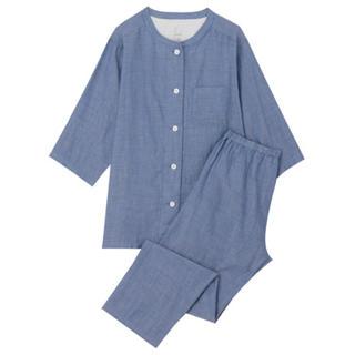 MUJI (無印良品) - 今季新品  無印良品  脇に縫い目のない細番手二重ガーゼ七分袖パジャマ