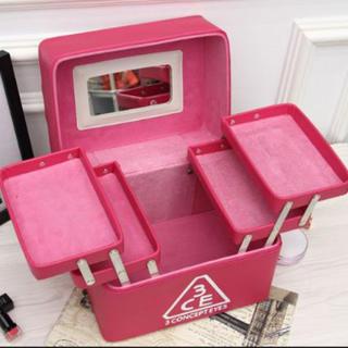 即購入ok メイクボックス コスメ収納 鏡付き 防水 新品