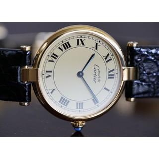 カルティエ(Cartier)の美品 カルティエ マスト ヴァンドーム アイボリー LM Cartier(腕時計(アナログ))