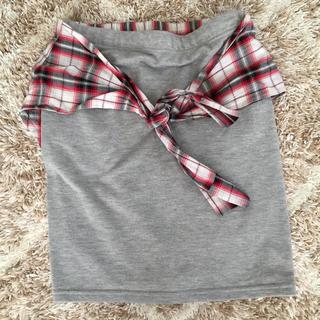 シャツ巻きスカート(ひざ丈スカート)