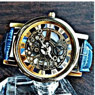 ブルーレザー&ホワイトレザー腕時計セット (腕時計(アナログ))