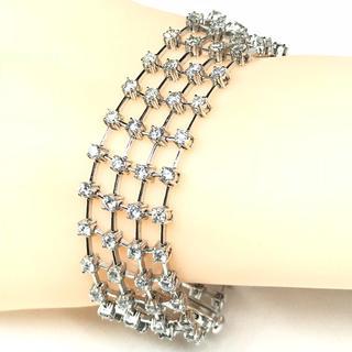 1357 ダイヤモンド 8.00ct WGK18 ホワイトゴールド ブレスレット(ブレスレット/バングル)