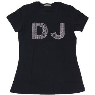 【現品のみ】DJ/Skeleton■ラインストーンTシャツ■Fブラック■Z001(Tシャツ(半袖/袖なし))