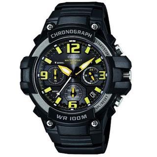 カシオ(CASIO)の新品★CASIO クロノグラフ MCW-100H-9AV イエロー(腕時計(アナログ))