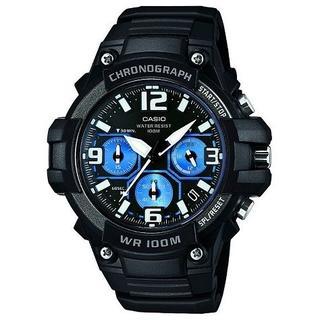 カシオ(CASIO)の新品★CASIO クロノグラフ MCW-100H-1A2V ブルー(腕時計(アナログ))
