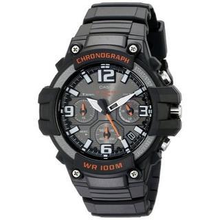 カシオ(CASIO)の新品★CASIO クロノグラフ MCW-100H-1AV ブラック(腕時計(アナログ))