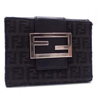 フェンディ(FENDI)のA654 中古 フェンディ 8M0035 二つ折り財布 黒(財布)