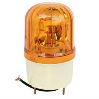 パトライト LED 回転灯 黄色 小型 100V 防滴(店舗用品)