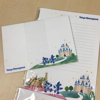 ディズニー(Disney)の非売品ディズニー限定レターセット2セット(カード/レター/ラッピング)