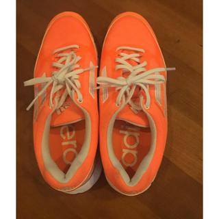 アディダス(adidas)のアディダスゴルフシューズ蛍光オレンジ23センチ(その他)
