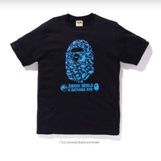 アベイシングエイプ(A BATHING APE)のA BATHING APE JURASSIC WOLRD コラボTシャツ(Tシャツ/カットソー(半袖/袖なし))