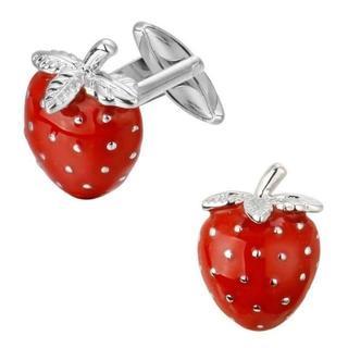 イチゴ いちご ストロベリー カフスボタン レッド(カフリンクス)