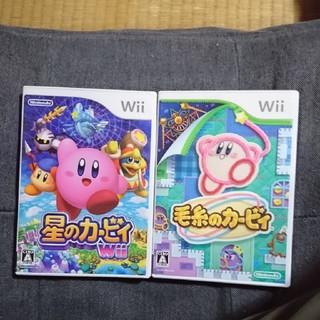 ウィー(Wii)のwii 星のカービィ 毛糸のカービィ セット(家庭用ゲームソフト)