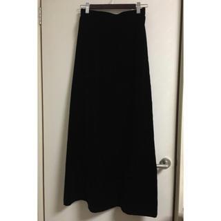 ベルベット ロングスカート 黒(ロングスカート)