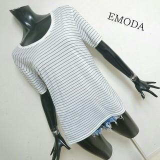 エモダ(EMODA)のEMODA*ボーダーTOPS(Tシャツ(半袖/袖なし))