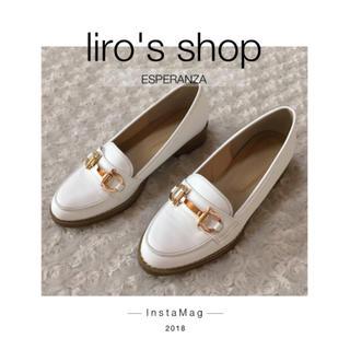 エスペランサ(ESPERANZA)のESPERANZA♡ ホワイトローファーパンプス(ローファー/革靴)