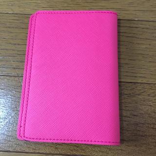 手帳カバー(ピンク)(パスケース/IDカードホルダー)