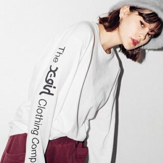 X-girl - アームロゴ 長袖 トップス