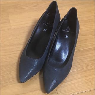新品 パンプス 紺色(ハイヒール/パンプス)