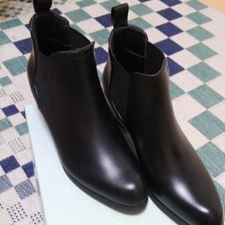 オデットエオディール(Odette e Odile)のほわいと様取り置き商品サイドゴアブーツ 黒  LL(24,5~25センチ)美品(ブーツ)