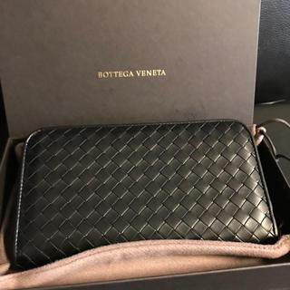 Bottega Veneta - 新タグ!美品! ボッテガヴェネタ ラウンドファスナー 長財布 ブラック 牛革