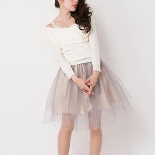 アンティローザ(Auntie Rosa)の定価6372円❤️【新品タグ付】Auntie Rosaチュールスカート♡(ミニスカート)