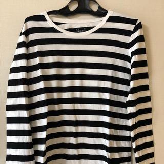 ムジルシリョウヒン(MUJI (無印良品))の[無印良品] ボーダーTシャツ カットソー(Tシャツ(長袖/七分))
