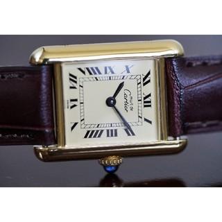 カルティエ(Cartier)の美品 カルティエ マスト タンク アイボリー 手巻き SM Cartier(腕時計)