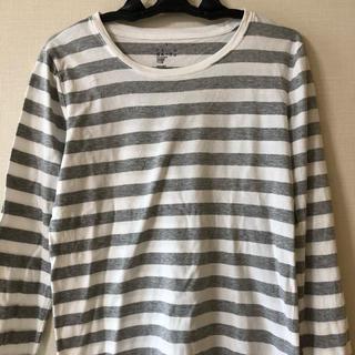ムジルシリョウヒン(MUJI (無印良品))の[無印良品]ボーダーTシャツ カットソー(Tシャツ(長袖/七分))