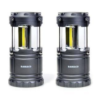 お買い得!折り畳み式 LED ランタン 2個セット キャンプや釣りに(ライト/ランタン)