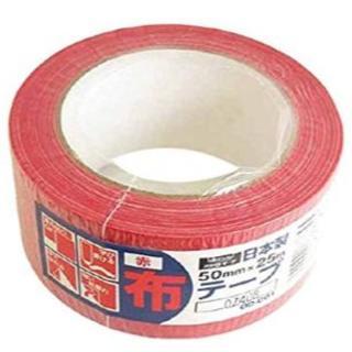 オカモト 布テープカラーOD-001 赤 OD001R (30巻入り)(店舗用品)