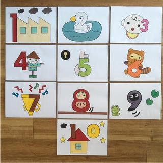 すうじのうた カードシアター(知育玩具)