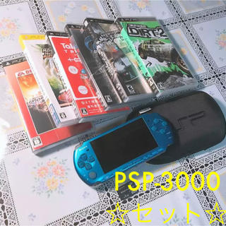 プレイステーションポータブル(PlayStation Portable)のPSP-3000 ソフト多数★(携帯用ゲーム本体)