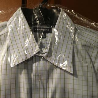 ランズエンド(LANDS'END)のランズエンド ボタンダウンシャツ 長袖 Lサイズ(シャツ)