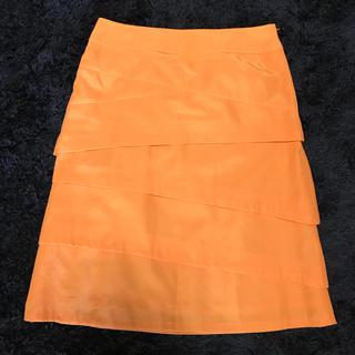 ヴァンドゥーオクトーブル(22 OCTOBRE)の【美品】22OCTOBRE サテンスカート(ひざ丈スカート)