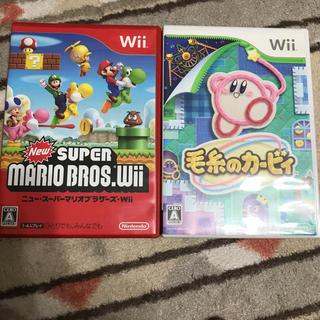 ウィー(Wii)のWii ニュースーパーマリオブラザーズ 毛糸のカービィ(家庭用ゲームソフト)