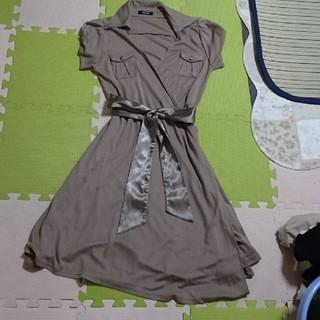 巻きスカート(ひざ丈ワンピース)